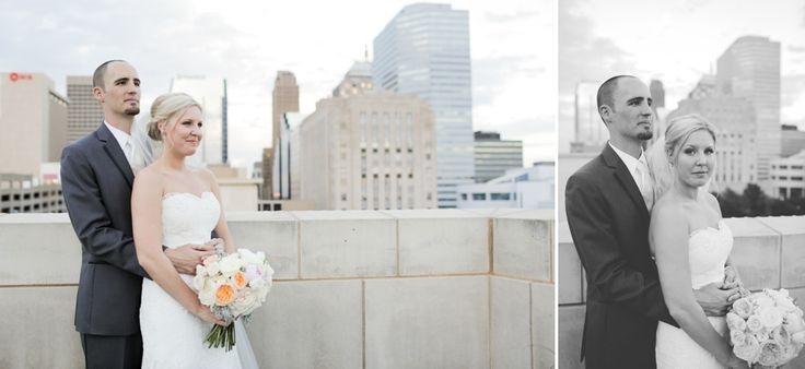 Shelbey and Bart's Modern Wedding at the OKC Museum of Art, shot by Rachel Photographs, OKC wedding photographer. OKCMOA Roof Terrace. Outdoor Bridal Photography. Oklahoma City Museum of Art.