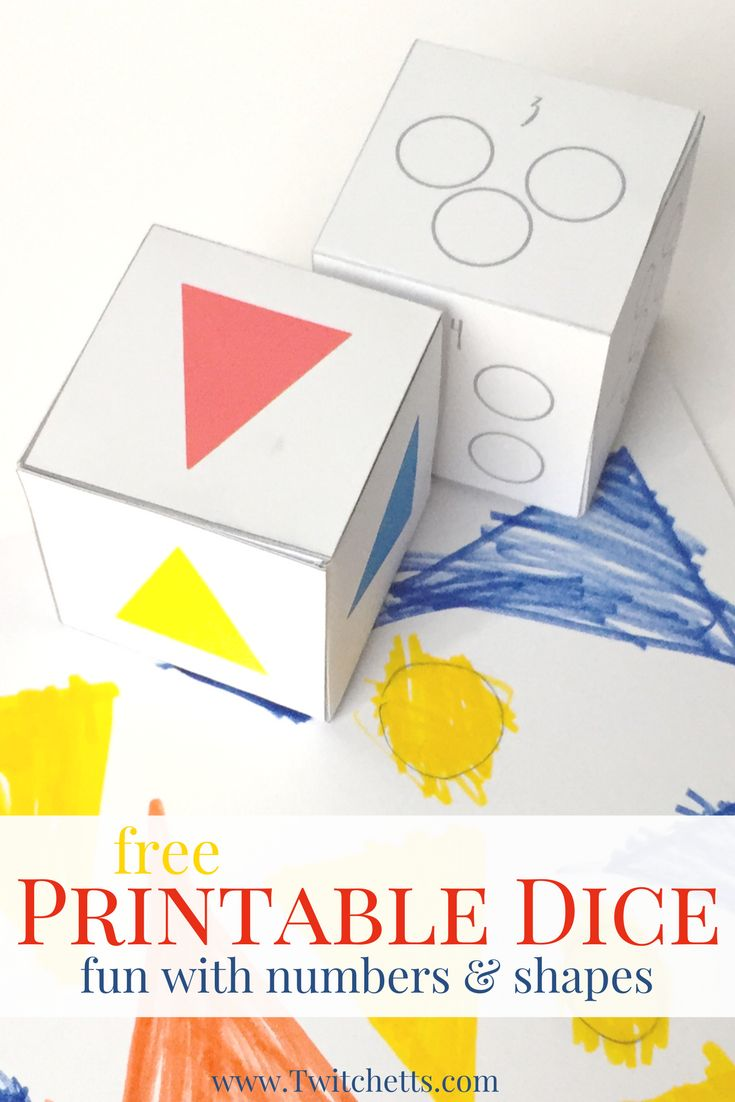 Primary color games for preschoolers - Dice Games For Kids Beginning Shapes Colors Counting Activity Dice