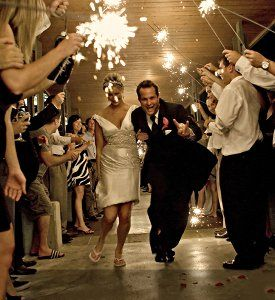 love the idea of leaving under sparklers!