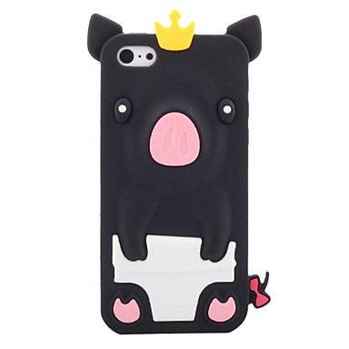 Cerdo con corona, Funda de silicona para el iPhone 5C (colores surtidos) – USD $ 4.99