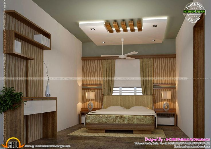 Bedroom and living interior designs  keralahousedesigns