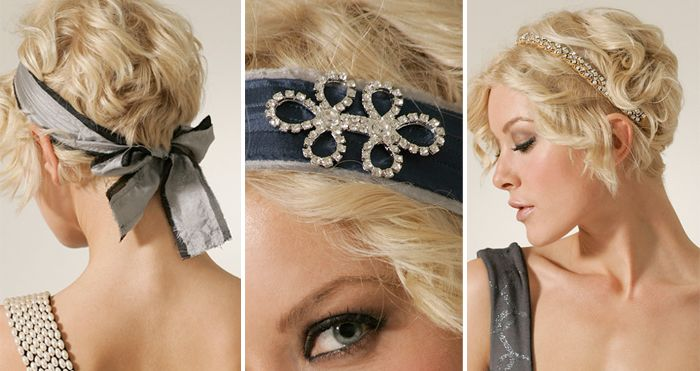 For straight locks, short, choppy layers accentuated with headbands