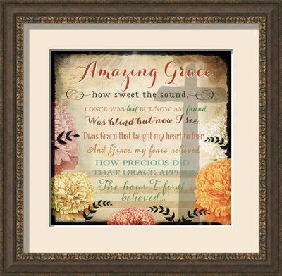 amazing grace cross of love framed art