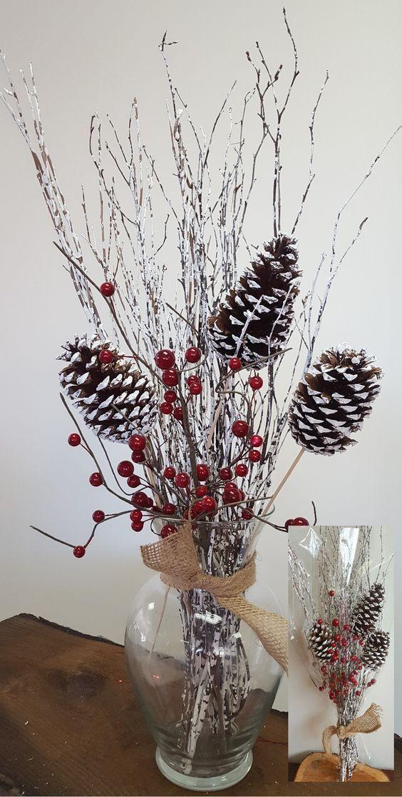 Oltre 25 fantastiche idee su centrotavola in legno su - Decorazioni invernali fai da te ...