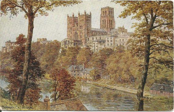 Durham Cathedral home of Shrine of St Cuthbert postcardsintheattic  New Listing: #postcard #ephemera #antique #vintage #vintagepaper  #antiquepaper #collectible #antiquepostcard #vintagepostcard
