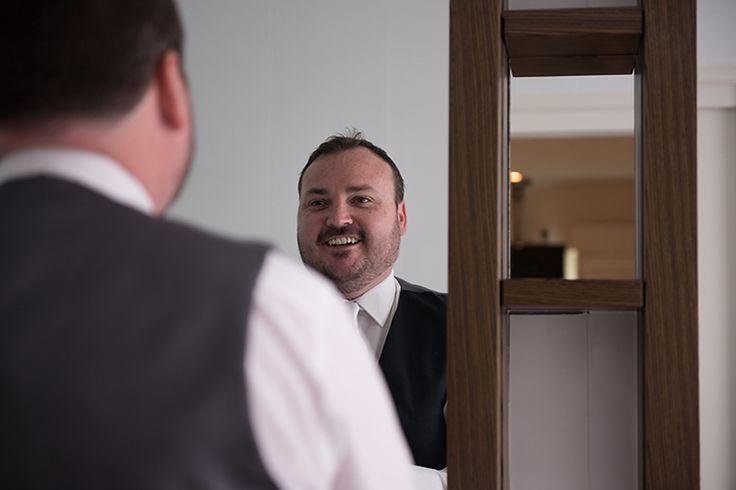 James the happy Groom. Pic Richard Windeyer. Byron Bay Wedding Celebrant.