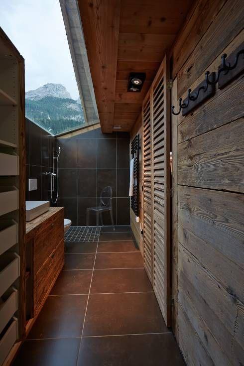 geraumiges bodenaufbau badezimmer holzbalkendecke Anregungen Images und Adbecdccecf Chalets Bathroom Layout Jpg