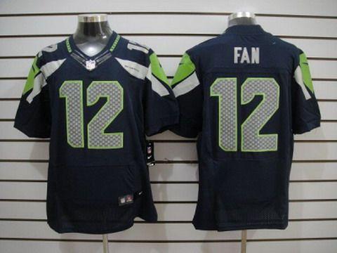 nike seattle seahawks 12 fan blue elite jerseys