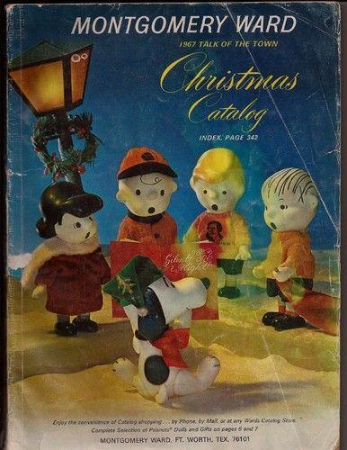 1967 Montgomery Ward Christmas Catalog Peanuts Snoopy Cover