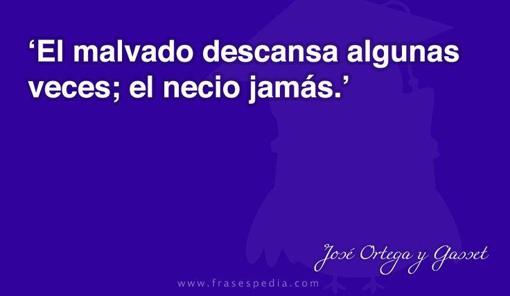 Frases de necedad de José Ortega y Gasset