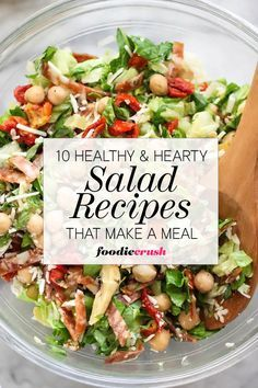 Far from your standard green leaf side, these hearty and healthy main meal salads make a whole meal in one bowl. | foodiecrush.com