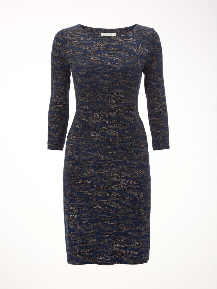 Arran Print Jersey Dress