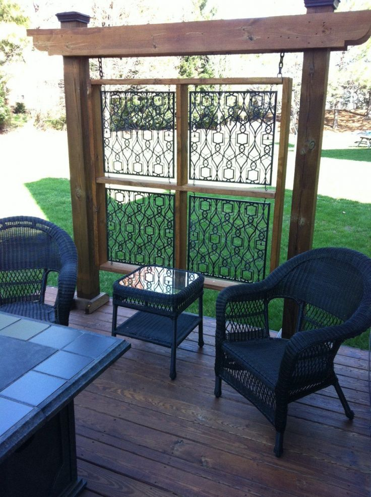 95 best landscaping patio gate ideas images on for Hanging privacy screens for decks