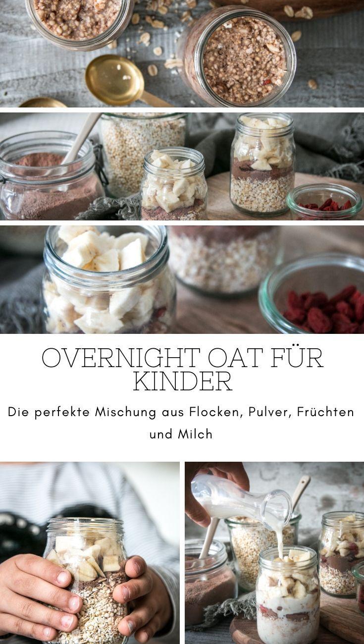 Die perfekte Mischung für einen Overnight Oat for Kids: Oatcakes, Chocolate …   – Frühstück