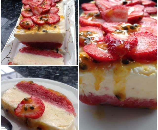 Recipe Strawberry & Passionfruit Yoghurt Semifreddo by janinewood - Recipe of category Desserts & sweets