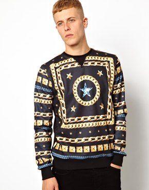 Criminal Damage Sweatshirt With Flawless Print
