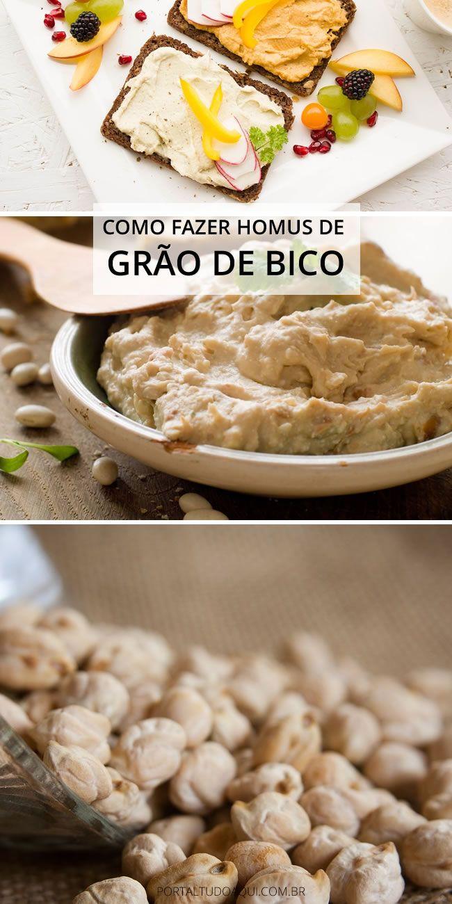 Como Fazer Hummus de Grão de Bico   – Receitas Fit