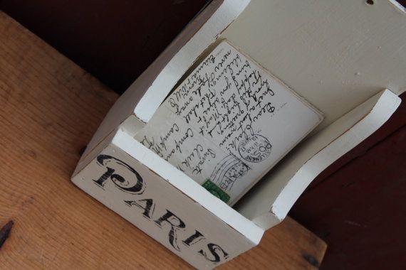 Paris Mail Holder / Wall Mail Holder / by JMFindsandDesigns
