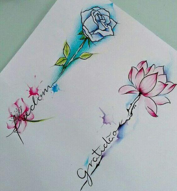 101 Charming Floral Tattoo Ideas