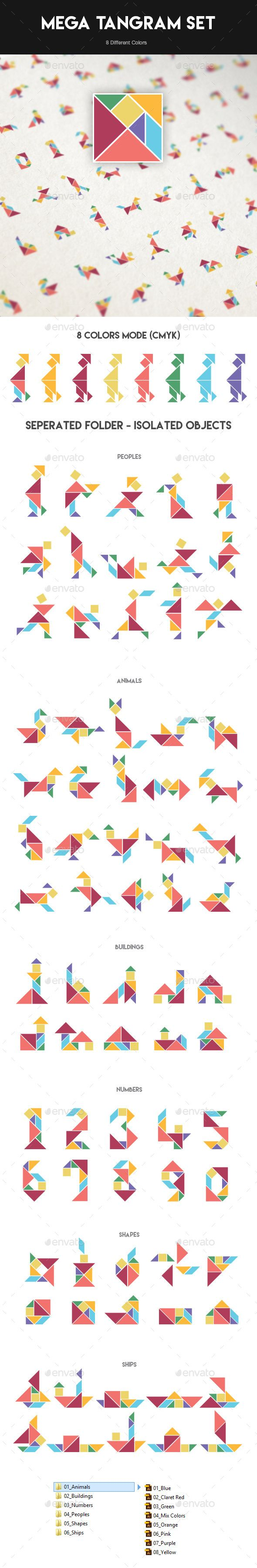 Mega Tangram Set (75 x 8 Colors)