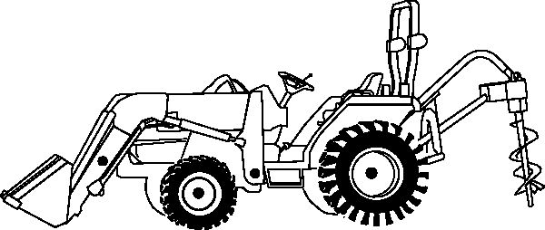 Vintage Coloring Book Illustrations | vintage tractor coloring pages