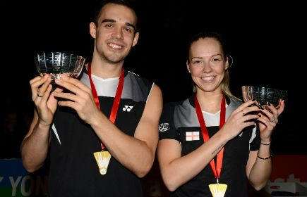 Congrats to Chris and Gabby Adcock for their mixed doubles victory in the English Nationals at the weekend! Must've been that lucky YC Sports logo on their shoulders! #Badminton #EnglishNationals #Adcocks