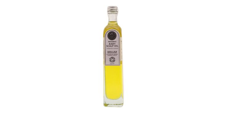 Lækker økologisk olie til babyers hovedbund med de fineste ingredienser af…