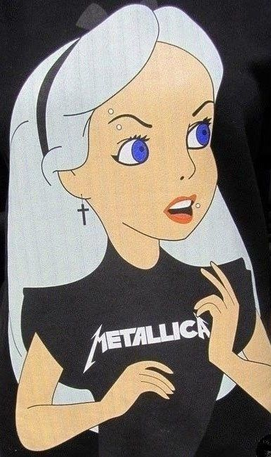 Alice in wonderland gone Metallica