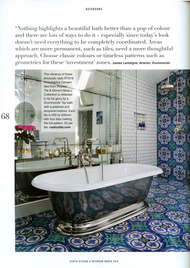 The beautiful Tay bath by Drummonds. drummonds-uk.com Utopia Kitchen & Bathroom March 2018