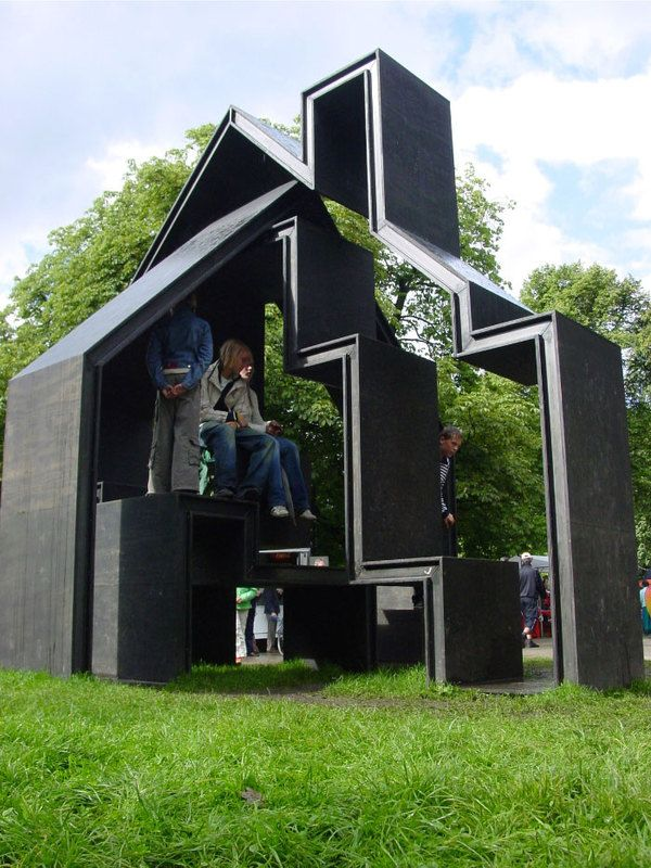 """Folly for the Noorderzonfestval Groningen (NL)  """"A park landscaped in English style, such as the Noorderplantsoen, should certainly contain a folly. Such bizarre products of the imagination without a tangiblefunction were highly popular in Romantic times and in the days of English landscaped parks."""