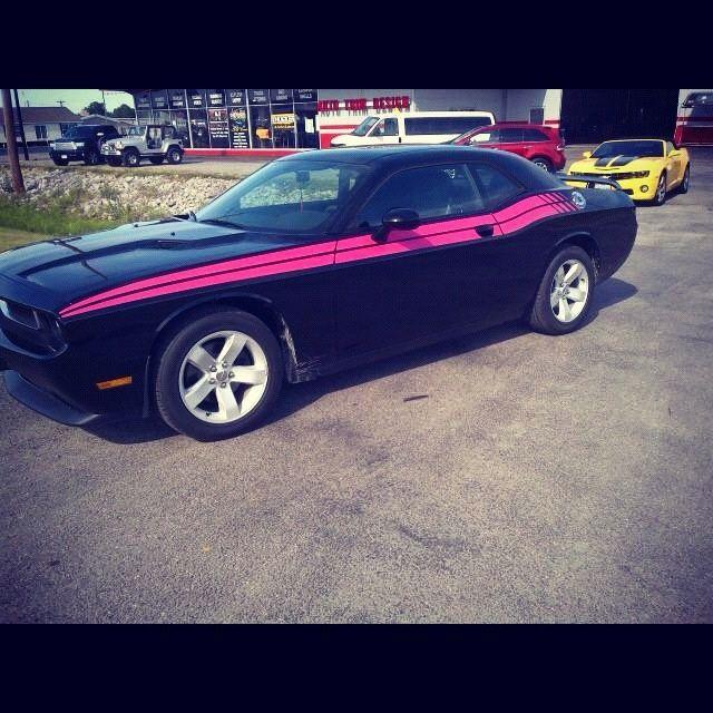 Dodge Dart Srt >> pink stripe on dodge challenger   Pink And Black ...
