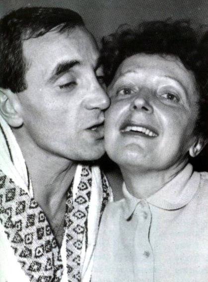 Charles Aznavour and Édith Piaf
