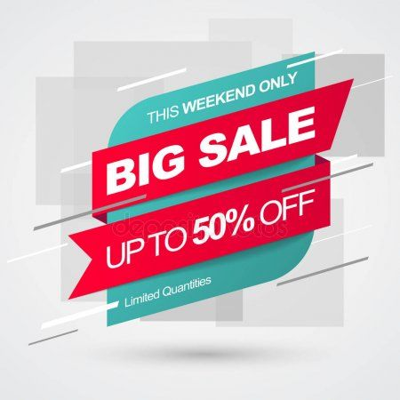 Sale banner template. Big Sale. Save up to 50 off. Vector – Stock Vector , #Affi…