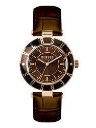 Versus by Versace Women's SP8170015 Logo Analog Display Quartz Brown Watch