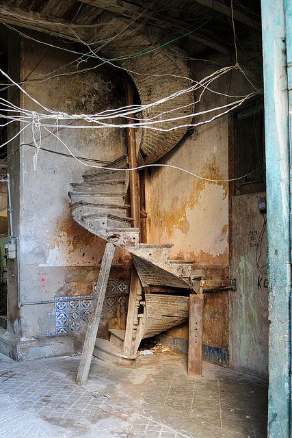 old Cuban steps. great photo of actual construction of stairs for future project.