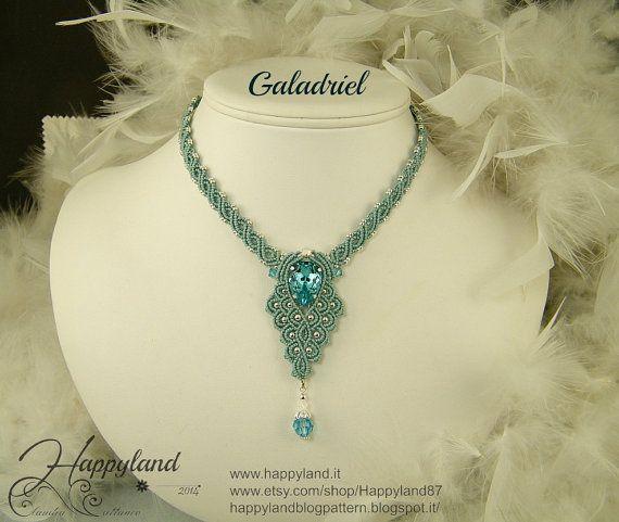 Galadriel  macramè necklace pattern by Happyland87 on Etsy, $13.00
