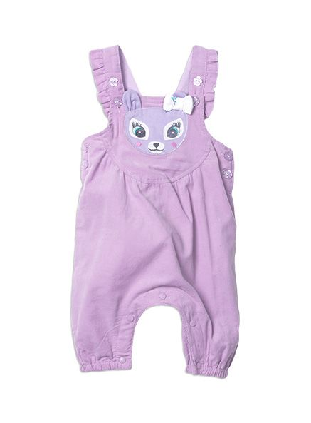 Pumpkin Patch - all in ones - babycord deer dungarees - W5BG20007 - lupin - 0-3m to 18-24m