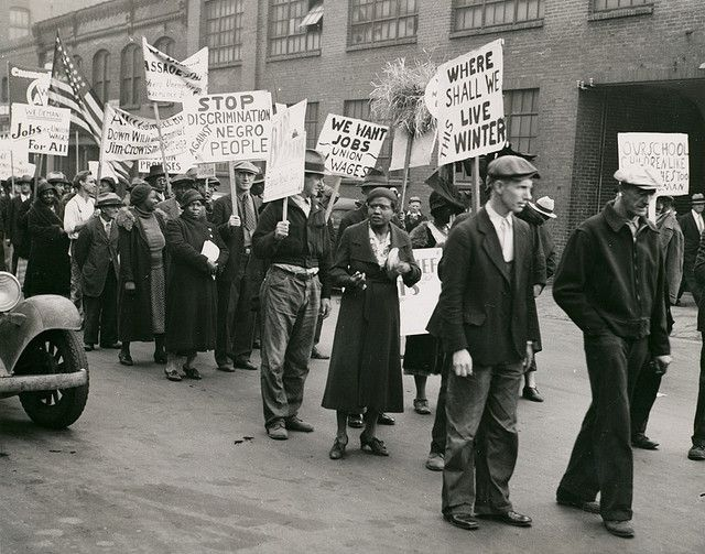Civil Rights Protestors Demonstrating For Fair Employment