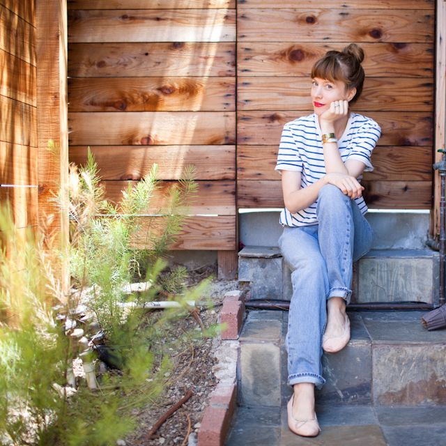 Crystal Meers - closet visit: Red Lipsticks, Boyfriend Jeans, Style, Crystals Meer, Fashion Blog, Boyfriends Jeans, Ballet Flats, Closet, Stripes