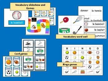Les Sports BUNDLE- French Sports Vocabulary