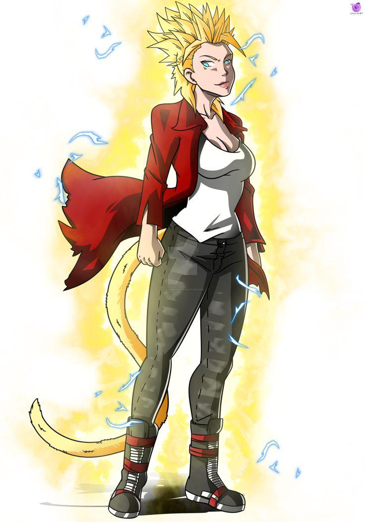 Commission oc leeki ssj2 anime character design