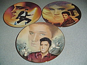 Elvis Presley Hit Parade Collection Set of 3 Plates