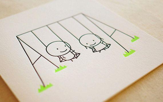 Swing / Letterpress Card