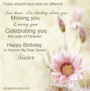 Wishes to My Sister in Heaven | Birthday In Heaven Card For Sister ...