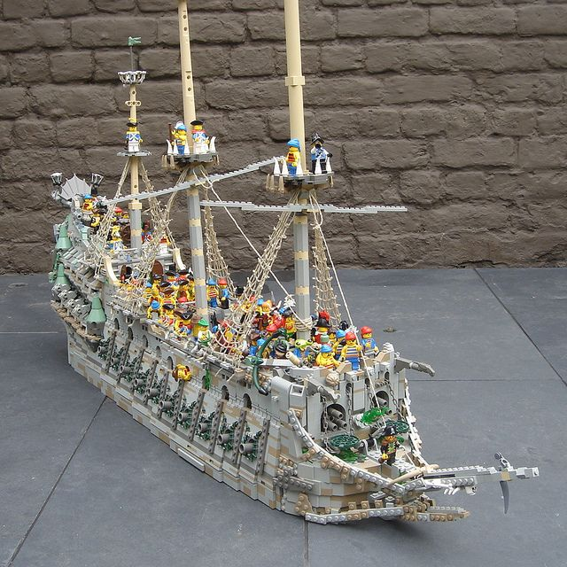 LEGO Celebrating 1000 supporters for The Flying Dutchman, via Flickr.