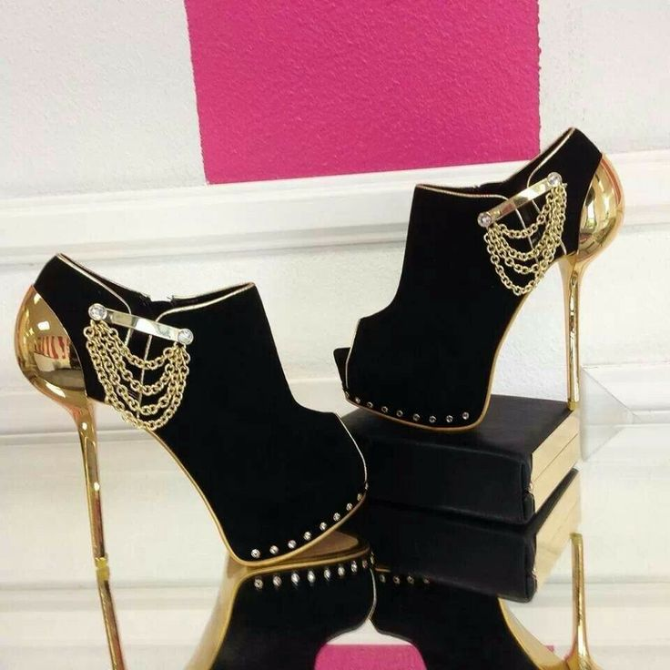 Black And Gold Heels For Prom