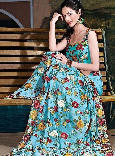 Parsi Gara embroidery Saree