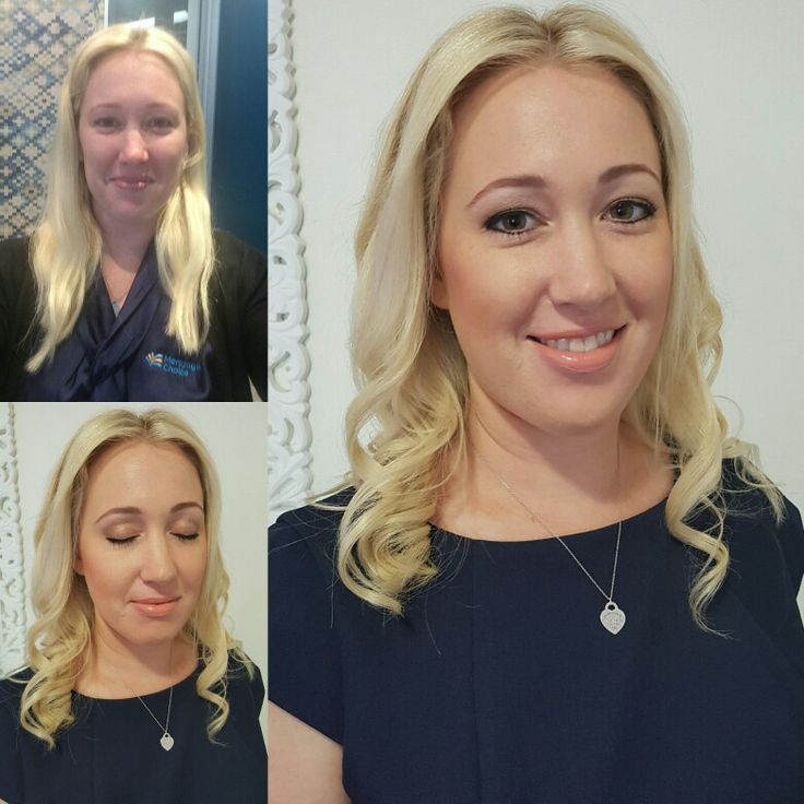 Before and after. Everyday #makeup and #hair by #photofinishmakeup #airbrush #softcurls #nofilter