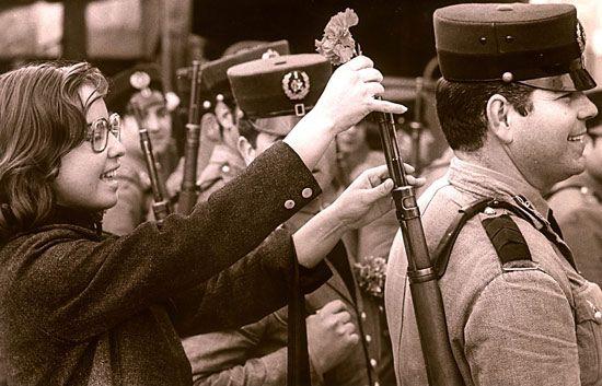 Revolución de los claveles, 1974