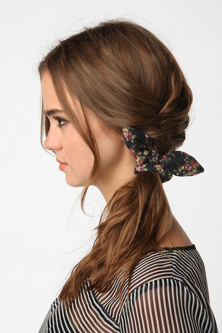 Floral Bow Scrunchie  #UrbanOutfitters